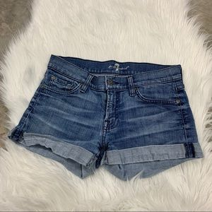 7 for all Mankind | denim shorts size 27